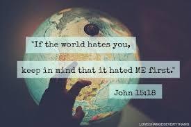 world hates you